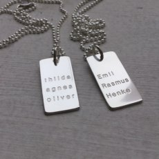 New engraving - Family Tag