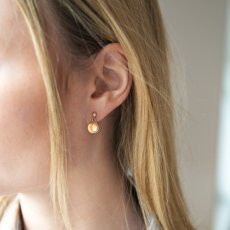 Gold nugget - earring