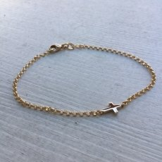 Have a little faith - gold bracelet