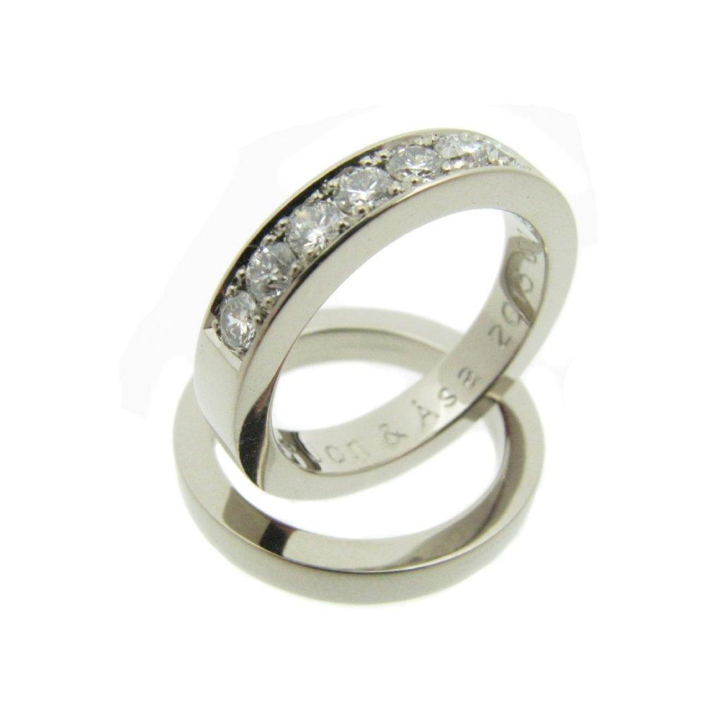 ... Faden diamanter vigselring förlovningsring vitt guld Förlovningsringar  ... 55b56f267c95c